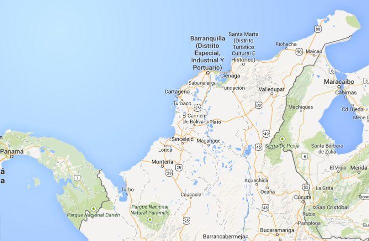 maps caribe colombiano
