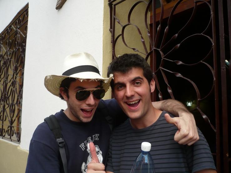 Con Josep, celebrando en un viaje a Cuba que ya casi éramos millonarios