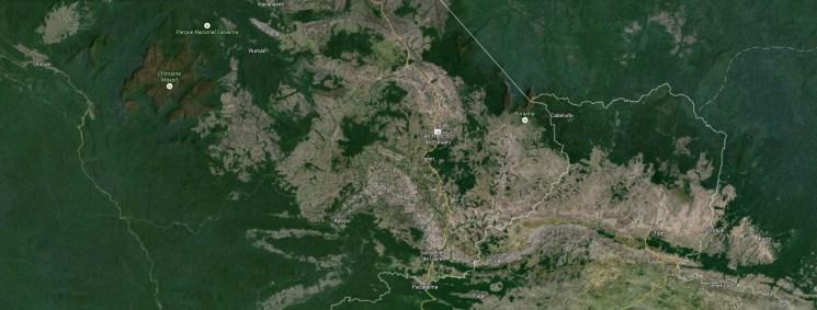 Gran Sabana mapa